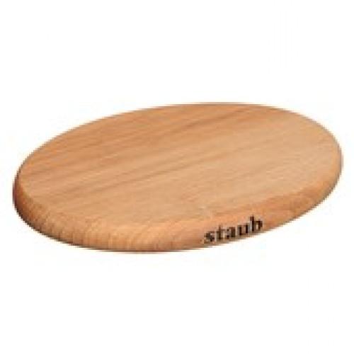 Staub Mágneses fa lábosalátét ovális natúr 21x15 cm
