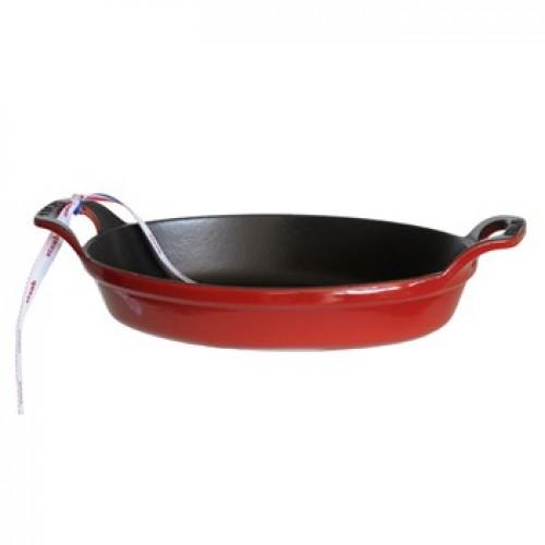 Staub Ovális sütőtál cherry 24 cm, 1,0 l