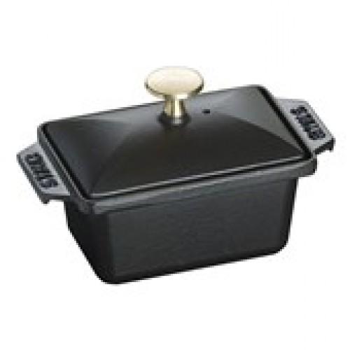 Staub Terrine sütőforma fedővel fekete 15x11 cm, 07 l