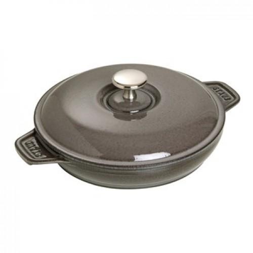 Staub Kerek sütőtál fedővel grafitszürke 20 cm, 0,75 l