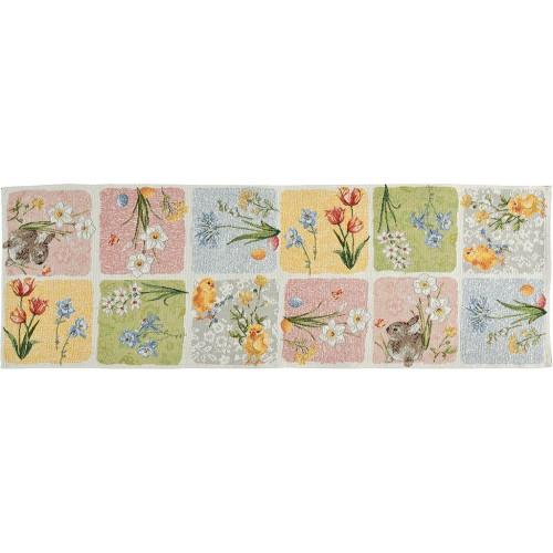 Sander Easter Patch asztali futó erdeti szín 32 x  96 cm