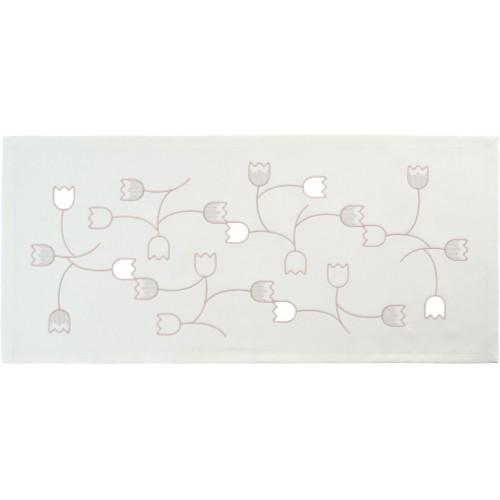 Sander Bow asztali futó ezüst bazsarózsa 38 x  85 cm