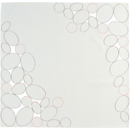 Sander Ring terítő ezüst bazsarózsa 85 x  85 cm