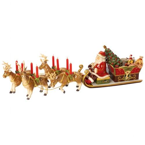 Christmas Toys Memories Mikulás szán  22x70x16cm