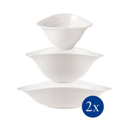 Vapiano bowls trio szett (2 pasztatányér, 2 salátástálka, 2 levescsésze) 6 darabos